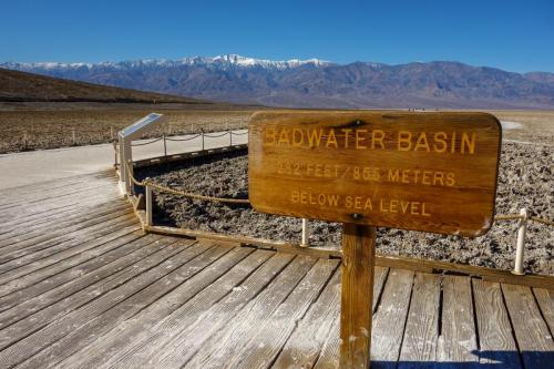 Badwater Basin sign 2